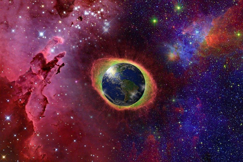 universe, earth