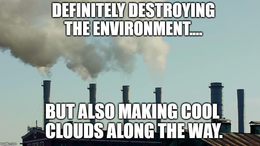 Definitely destroying the environment.... meme