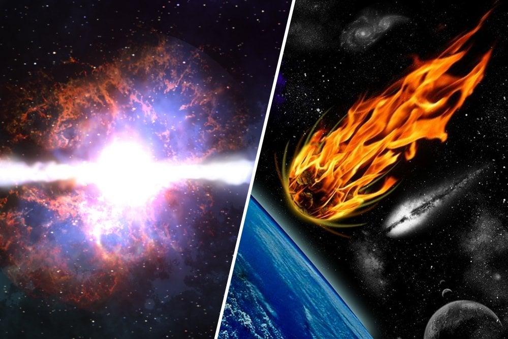 Gamma-ray burst and Meteor strike