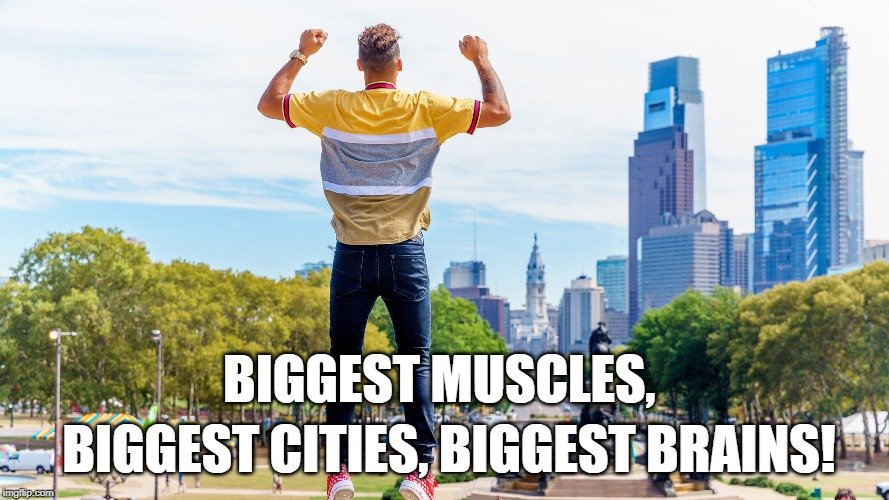 biggest cities, biggest brains meme
