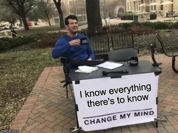 i know everything meme