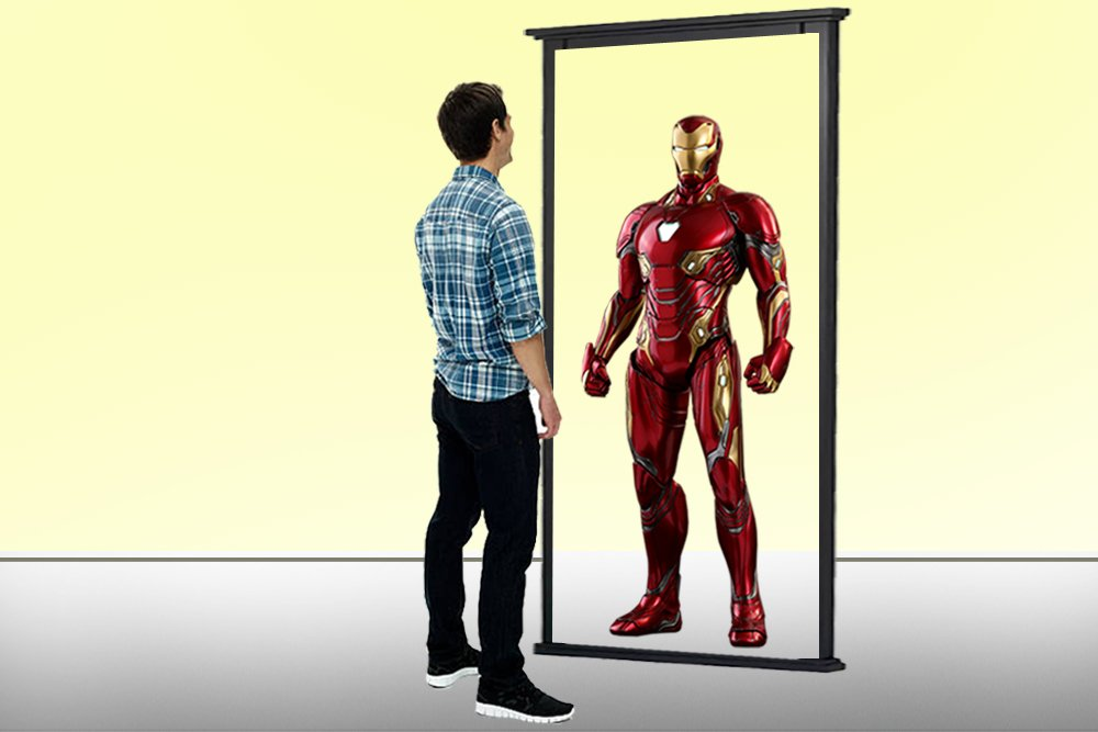 mirror effect iron man