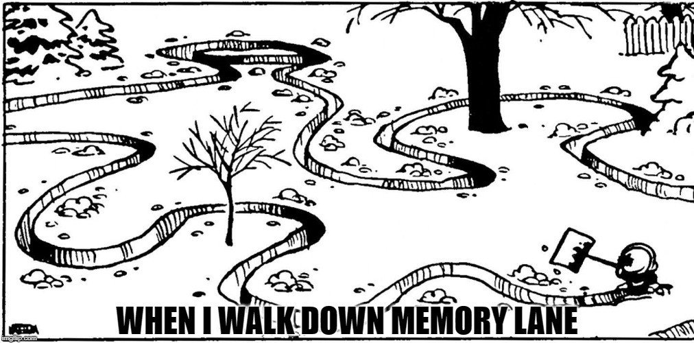 when i walk down memory lane meme