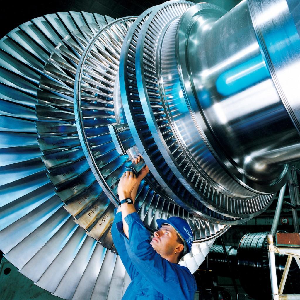 Dampf turbine Laeufer steam engine