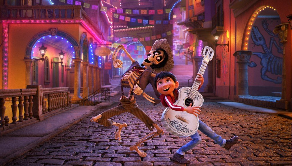 Meme from Coco from the Day of the Dead celebration scene.