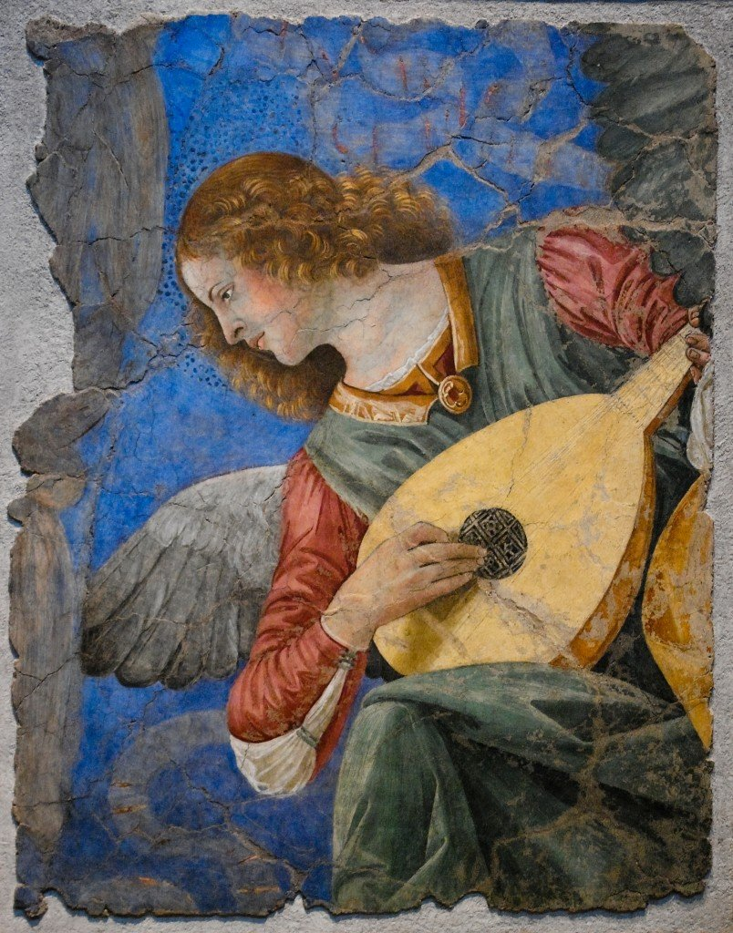 One of the most famous paintings of the angels playing instruments by Melozzo da Forli. Actually in Vatican Museums. - Image( Asier Villafranca)s