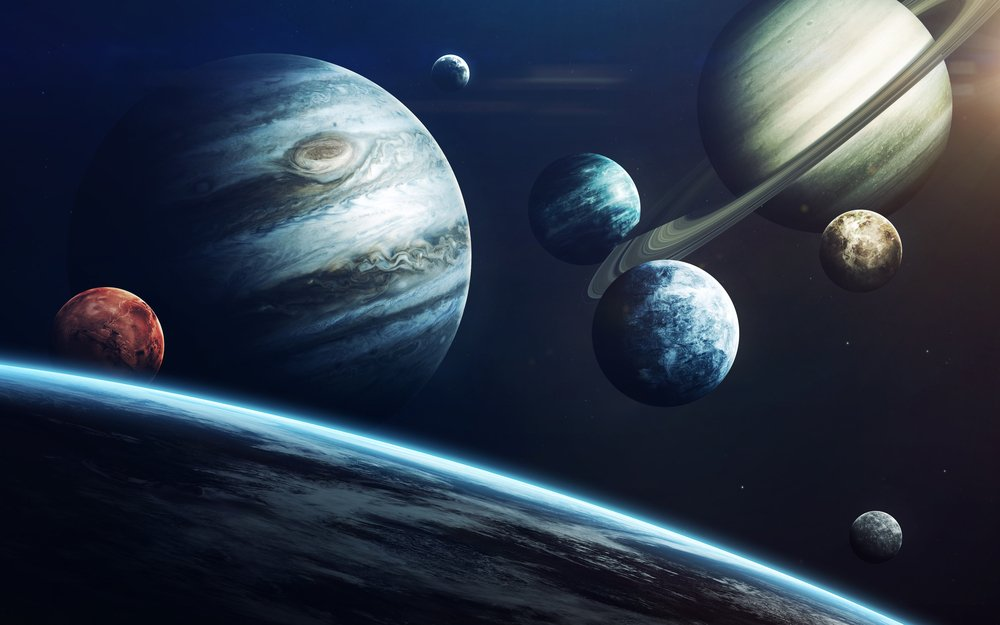 Solar system (Elements of this image furnished by NASA) - Illustrations