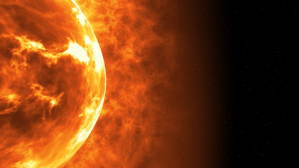Sun surface with solar flares. Abstract scientific background. 3d illustration - Illustration(FlashMovie)s