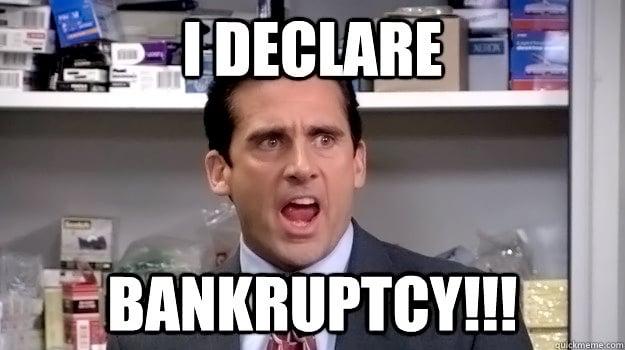 bankruptcy meme