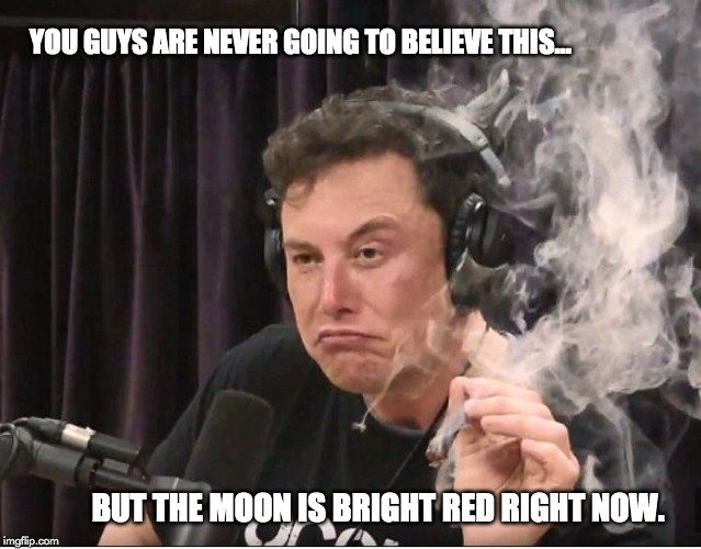 but the moon is bright bright now meme