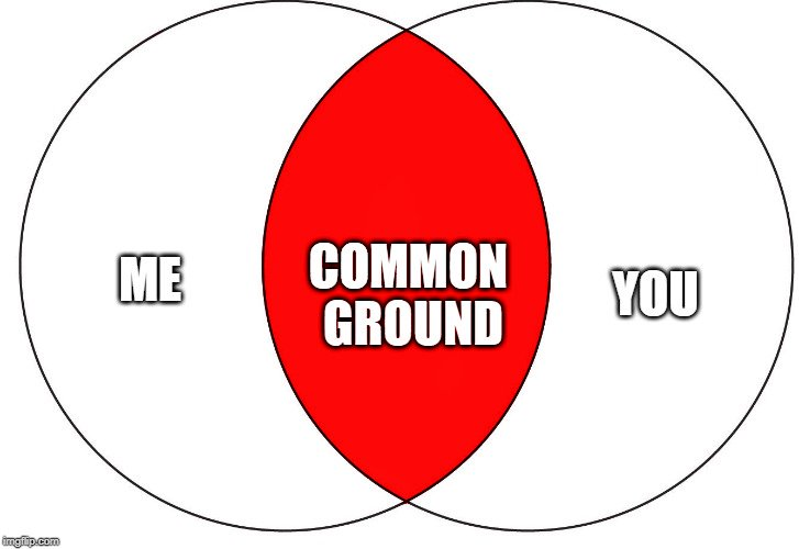 common ground venna diagram meme