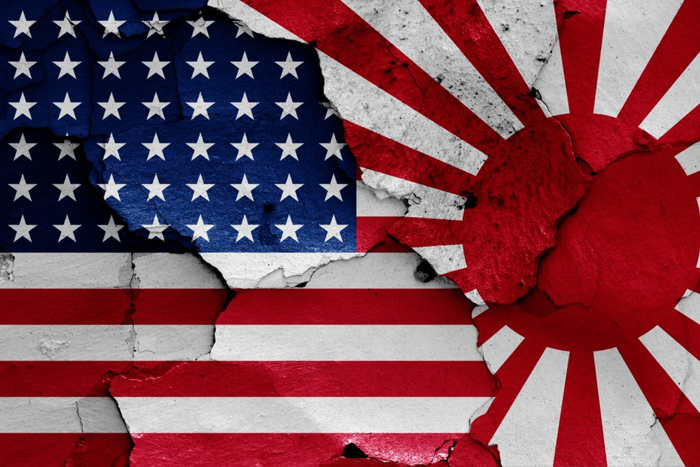 flags of USA and Japan in WW2 - Image(danielo)s