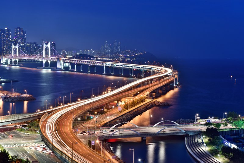 Gwangan bridge in South Korea.