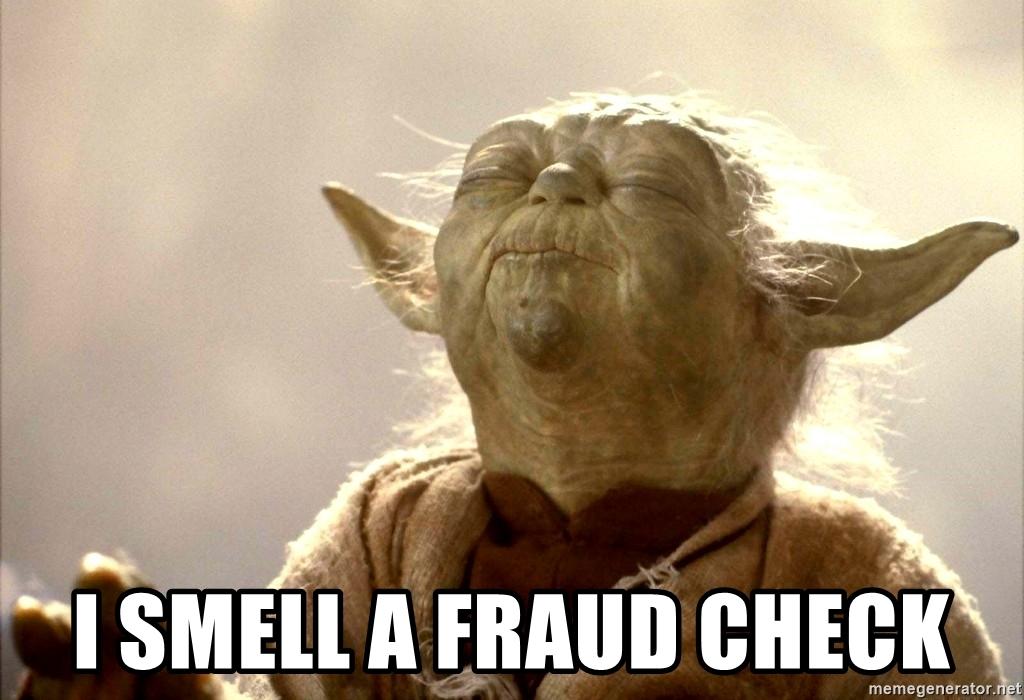 i smell a fraud check meme