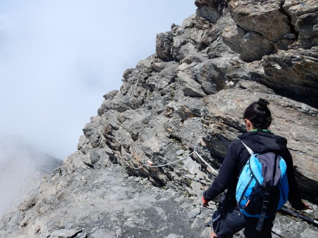 rocciamelone mountain alps trail trekking mountaineering cloud fog