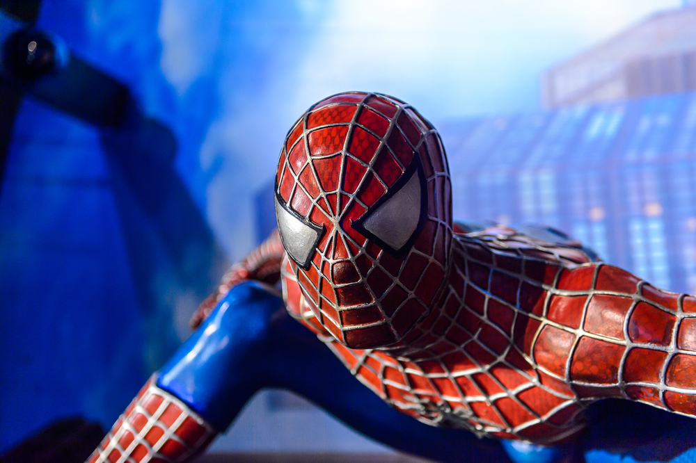 AMSTERDAM, NETHERLANDS - JUN 1, 2015 Spiderman in the Madame Tussauds museum in Amsterda( Anton_Ivanov)s