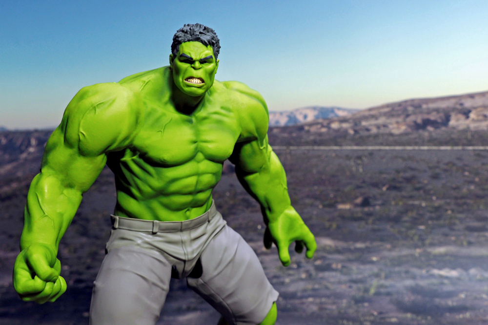 Bangkok,Thailand - May 21,2018 - Good Smile Company, Japanese toy manufacturer, launch action figure series Figma, base on famous Marvel's character the incredible Hulk - Image(Krikkiat)s