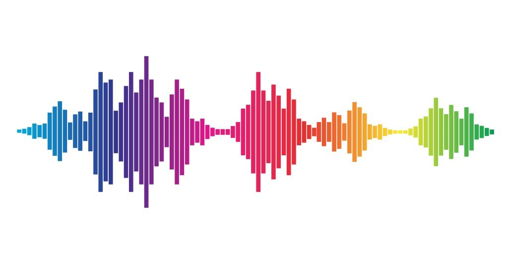 Colorful sound waves for party isolated on white background. Vector Illustration - Vector( Kostenyukova Nataliya)s