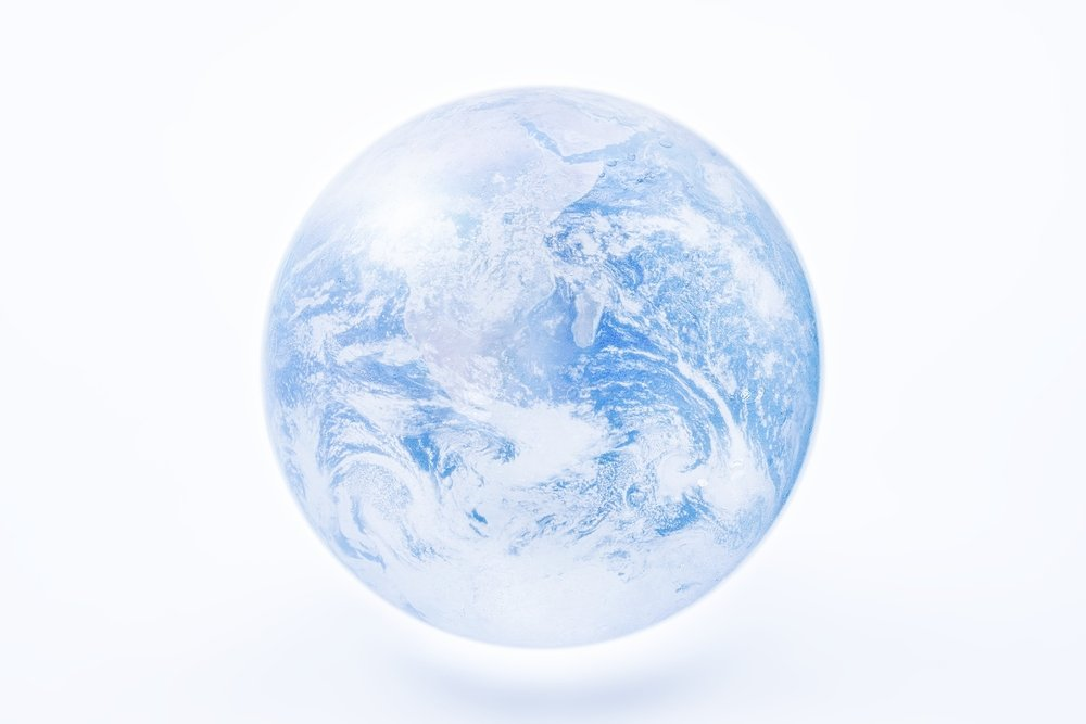 Image of the snowball earth. Elements of this image furnished by NASA. - Illustration( Naoto Shinkai)s