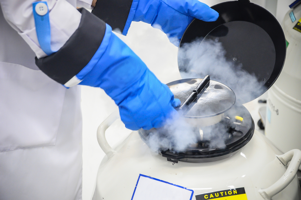 Sperm Freezing storage in liquid nitrogen tank, Laboratory infertility - Image( Jomwaschara Komvorn)S