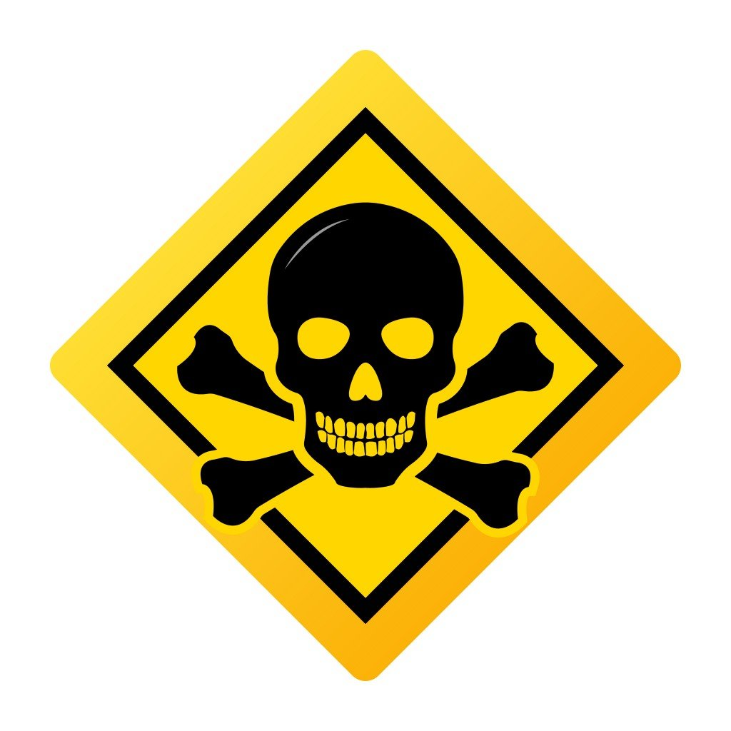 Toxic safety Hazard Danger Harmful Malware Virus sign illustration isolated on background Vector Icon - Vector(Korosi Francois-Zoltan)S