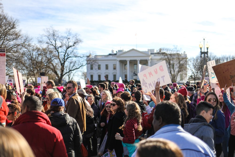 Washington, DC - January 20, 2018 Nearly a year after the historic Women's March on Washington Image( Nicole S Glass)s