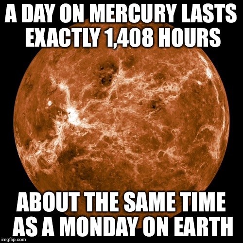 about the same time as a Monday on earth meme