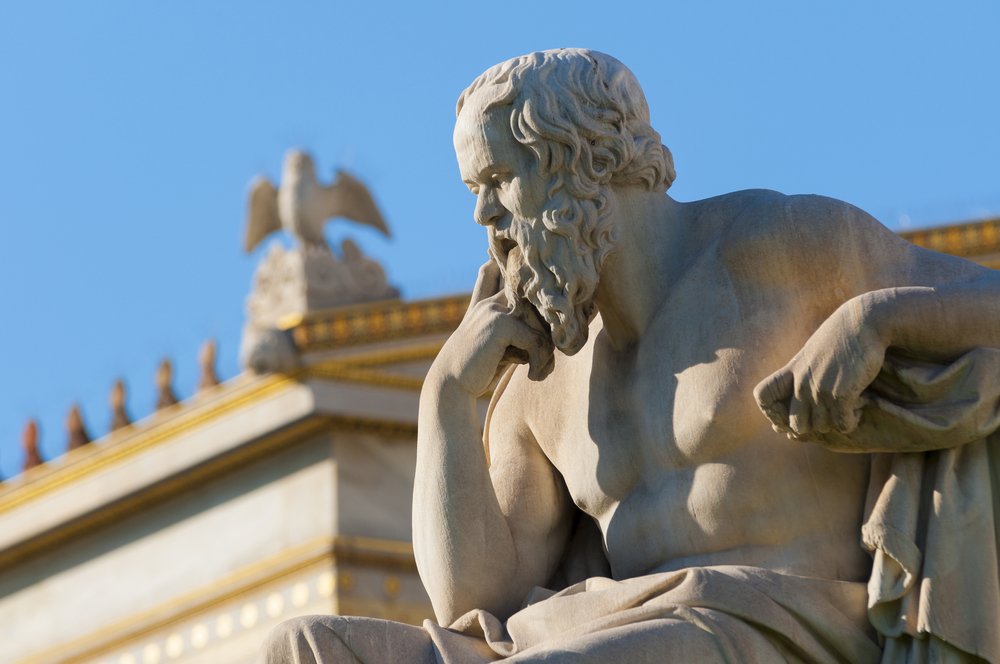 classical statue of Socrates from side - Image( vangelis aragiannis)s