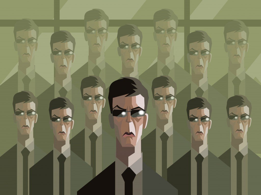 men in suit clones - Vector(delcarmat)s