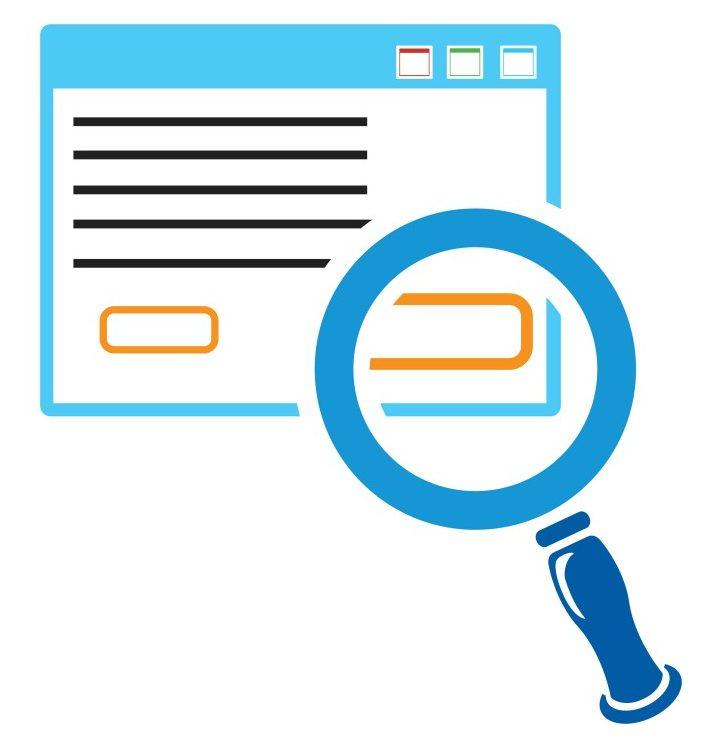 search html icon, internet search icon, search engine - Vector(drvector)S
