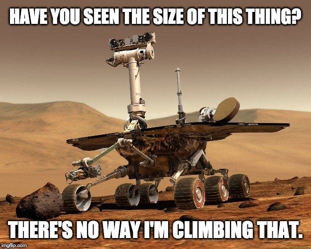 have you seen the size of this things? theres no way i'm climbing that.