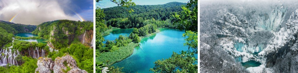 A glimpse of the Plitvice Lakes in the many seasons of this world.