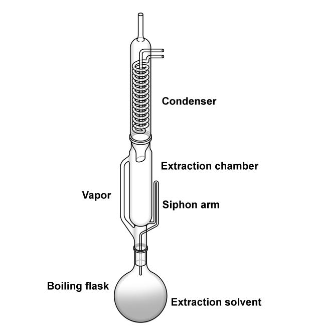 A soxhlet extractor apparatus. - Vector( Zern Liew)