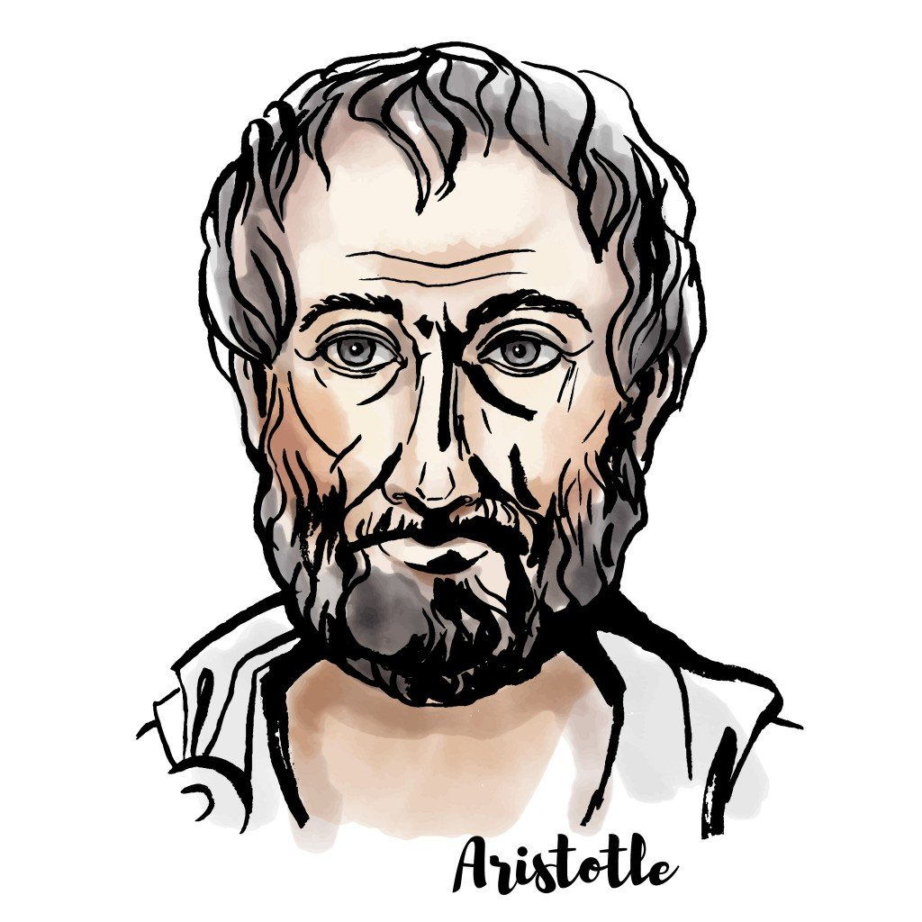 Aristotle watercolor vector portrait with ink contours( Marusya Chaika)s