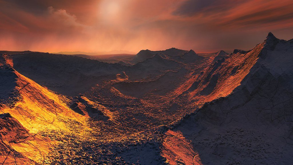 Artist's representation of the surface of Super-Earth