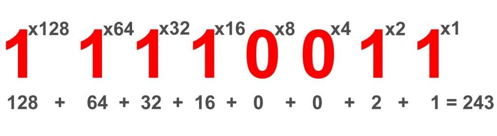 Breaking down an 8-bit binary code