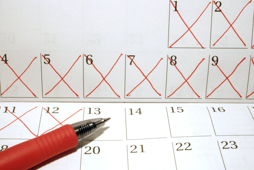 Calendar with dates crossed out in red pen - Image(Jarrod Erbe)s
