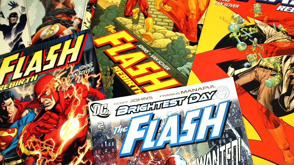 DC comics featuring the popular character, The Flash.