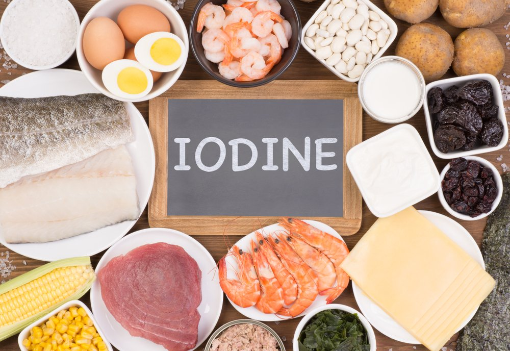 Food rich in iodine. Various natural sources of vitamins and micronutrients - Image(photka)s