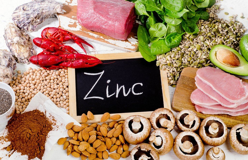 Foods Highest in Zinc. Healthy diet food. Flat lay - Image()s