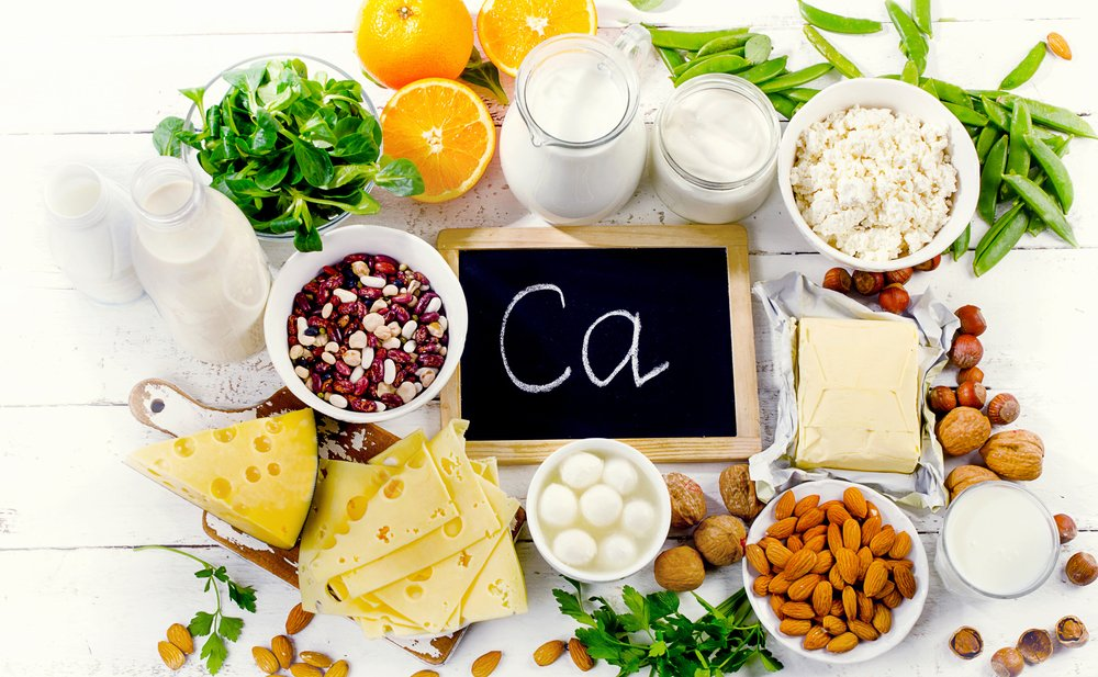 Group of products rich in calcium. Healthy diet food.Top view - Image(bitt24)s