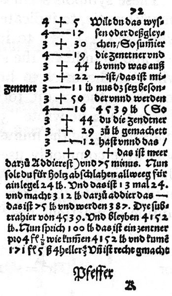 Johannes_Widmann-Mercantile_Arithmetic_1489