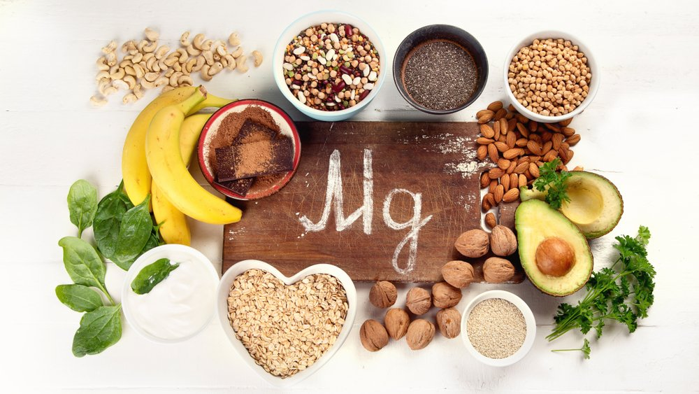 Magnesium rich foods. Top view. Healthy eating - Image(bitt24)s