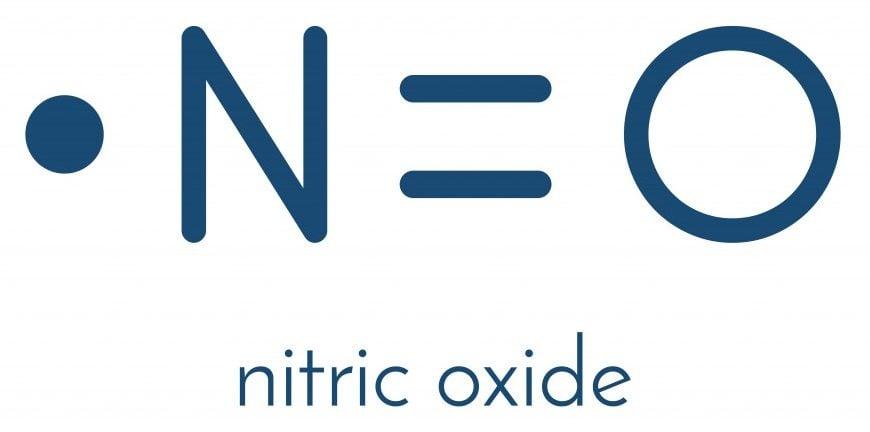 Nitric oxide (NO) free radical and signaling molecule. Skeletal formula. - Vector(molekuul_be)s