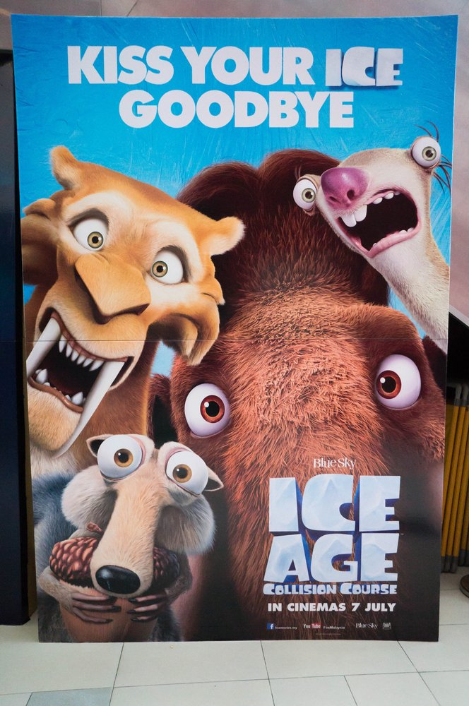 PUTRAJAYA, MALAYSIA - August 20, 2016 Ice Age Collision Course poster displayed at Alamanda Putrajaya Mall( Faiz Zaki)S