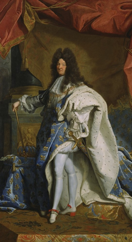 Portrait of Louis XIV, by Hyacinthe Rigaud studio, 1701, French painting, oil on canvas(Everett - Art)s