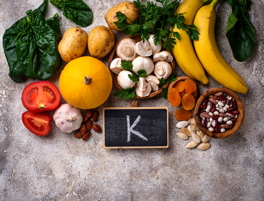 Products containing potassium. Healthy food concept. Space for text, top view - Image( Yulia Furman)s