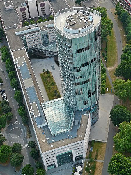 The Kölntriangle building in Cologne, Germany, has a Reuleaux triangle cross-section