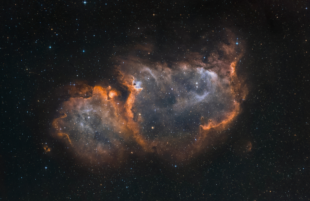 The Soul Nebula in the constellation Cassiopeia (narrow band light) - Image(Marcel Drechsler)S