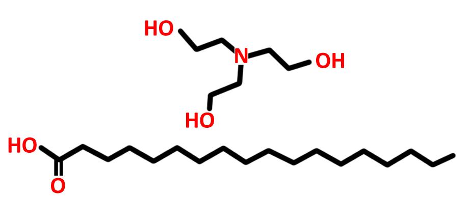 Triethanolamine stearate molecule